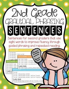 Gradual Phrasing Sentences 2nd Grade
