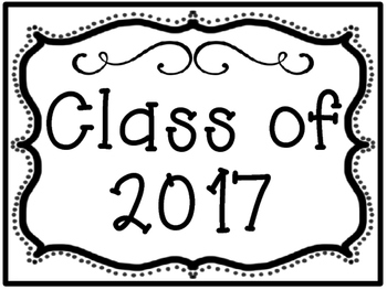 Graduating Class Poster Set for Back to School Set 1