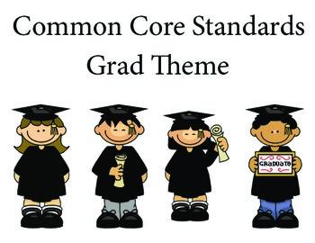 Graduation 1st grade English Common core standards posters