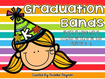 Graduation Bands {FREEBIE}