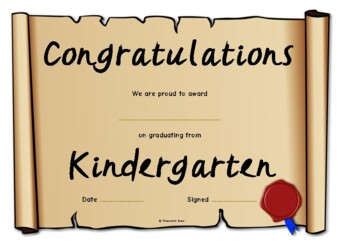 Graduation Certificates (End of Year Awards)