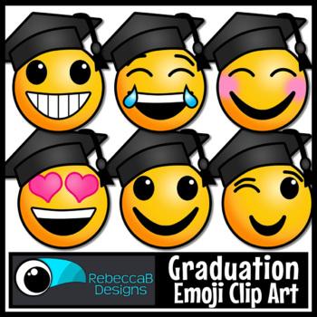 Graduation Clip Art: Emoji Faces, Graduation Emoji Clip Ar