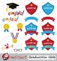Graduation Clip Art Girls { Graduates clipart - color and