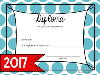 Graduation Diploma FREEBIE