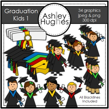 Graduation Kids 1 {Graphics for Commercial Use}