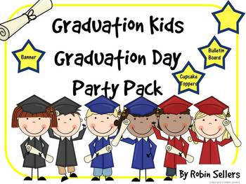 Graduation Kids - Graduation Party Pack for Kindergarten a