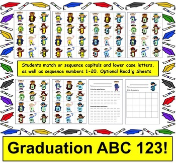 Graduation Literacy Center: Sequencing & Matching Alphabet