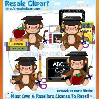 Graduation Monkeys ClipArt - Commercial Use