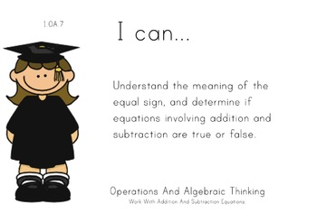 Graduation Theme 1st grade math Common Core Posters first