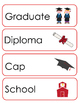 Graduation Vocabulary Cards and Spelling Practice