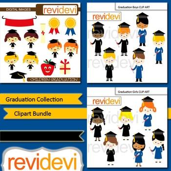 Graduation clip art: Graduation collection clipart bundle