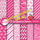 Graduation papers, Digital scrapbooking papers in Gold and