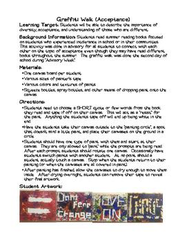 Graffiti Walk - Lesson in Acceptance