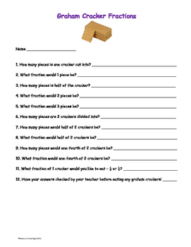 Graham Cracker Fractions - Hands On and Edible Activity -
