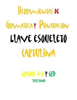 """Gramatica y Puntuacion Cartulina Mnemonica (11""""x17"""")"""
