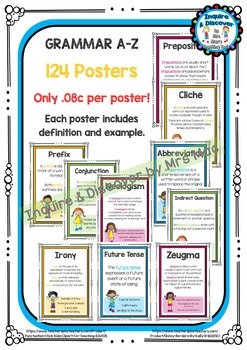 Back To School - Grammar A-Z Posters MEGA GIANT PACK - Onl