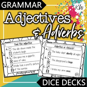 Adjectives and Adverbs Interactive Task Cards - Grammar