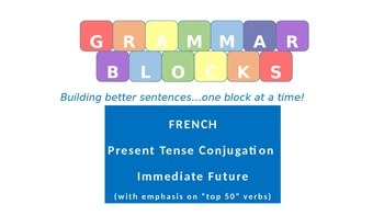 Grammar Blocks - French Immediate Future with emphasis on