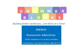 Grammar Blocks - French Possessive Adjectives with emphasi