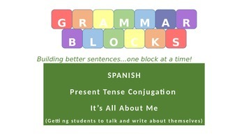 Grammar Blocks - Spanish  It's All About Me (student autob