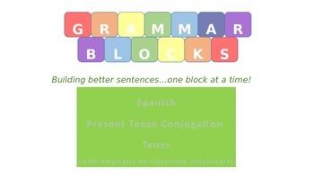 Grammar Blocks - Spanish Present Tense Tener with emphasis