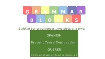 "Grammar Blocks - Spanish Querer with emphasis on ""food"" vo"