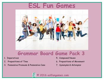 Grammar Board Games Pack 3 Game Bundle