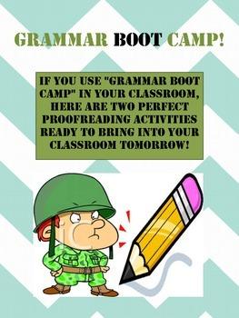 Grammar Boot Camp Activities - Proofreading
