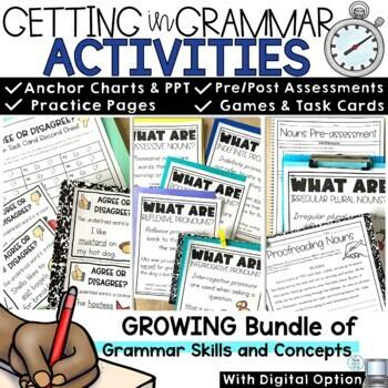 Grammar Bundle: Nouns, Pronouns, Verbs, Adjectives, Adverbs