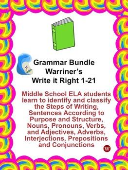 Grammar Bundle: Warriner's Write it Right 1-21