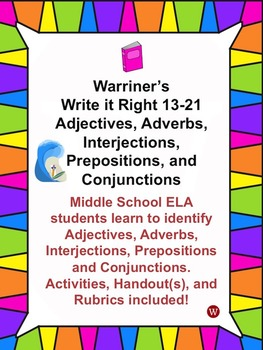 Grammar Bundle: Warriner's Write it Right 13-21