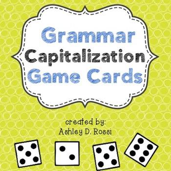 Test Prep Grammar: Capitalization Game Cards