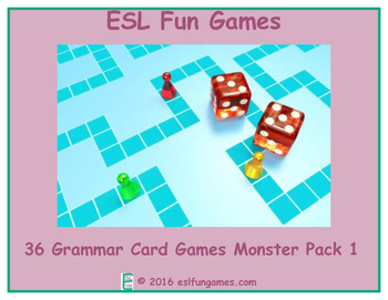 Grammar Card Games Monster Pack 1 Game Bundle