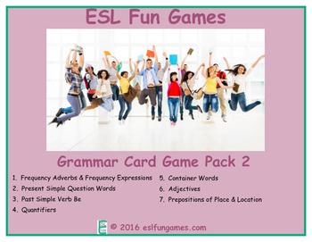Grammar Card Games Pack 2 Game Bundle
