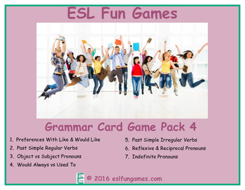 Grammar Card Games Pack 4 Game Bundle