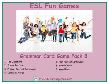 Grammar Card Games Pack 8 Game Bundle