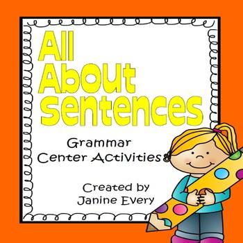 Sentences:  Grammar Centers and Activities