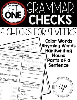 Grammar Checks Set 1