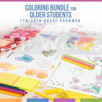 Grammar Coloring Sheet Bundle: Flowers