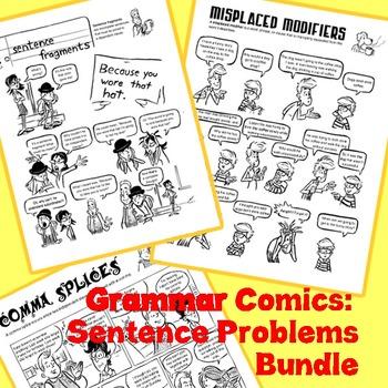 Common Writing Mistakes Bundle: Grammar Comics