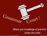 Grammar Court: Episode 1. A fun Grammar activity & game ab