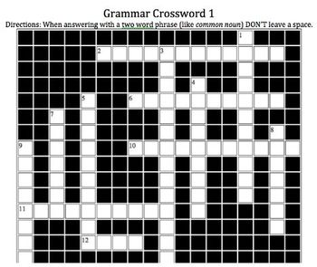 Grammar Crossword 1