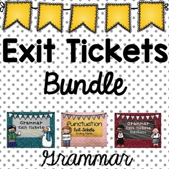 Grammar Exit Ticket Bundle