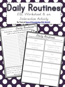 Grammar Fun {Daily Routines ESL} Grades 6-12 / Adults