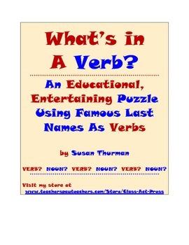 Grammar Practice Fun: Famous Last Names: A Bell-Ringer (3