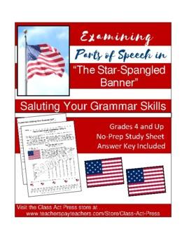 "Grammar Fun: Parts of Speech in ""The Star-Spangled Banner"""