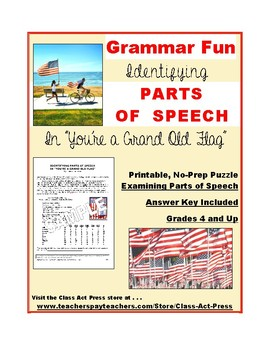"""Grammar Practice: Parts of Speech in """"You're a Grand Old F"""