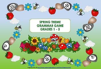 Grammar Game - Spring Theme