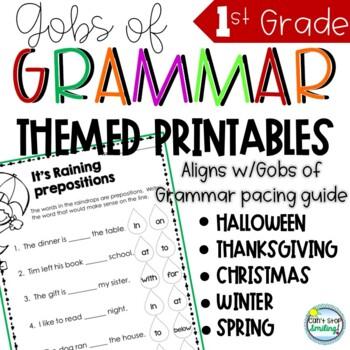 Grammar Grade 1 Gobs of Grammar ADD ON BUNDLE