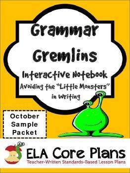 Grammar Gremlins October Sample Packet